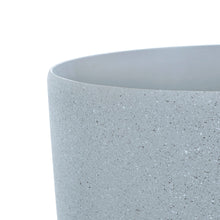 Load image into Gallery viewer, Close up of the Azuma grey stone effect round plant pot.