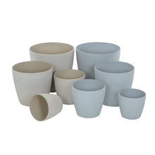 Load image into Gallery viewer, Azuma stone effect round plant pots.