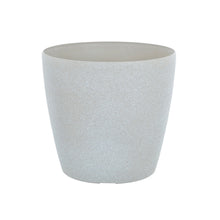 Load image into Gallery viewer, Azuma beige stone effect round plant pot.