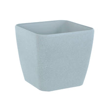 Load image into Gallery viewer, Azuma grey stone effect square plant pot.
