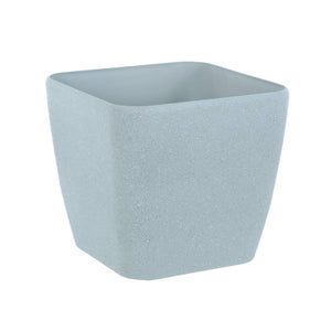 Azuma grey stone effect square plant pot.