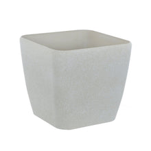 Load image into Gallery viewer, Azuma beige stone effect square plant pot.