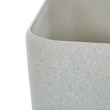 Load image into Gallery viewer, Close up of the Azuma beige stone effect square plant pot.