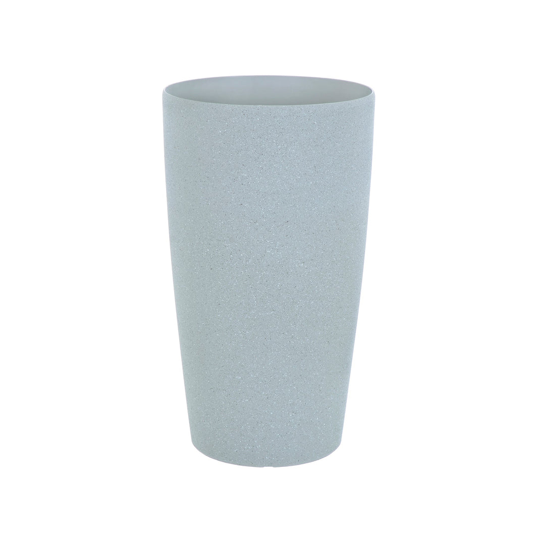 Azuma tall grey stone effect round plant pot.