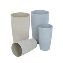 Load image into Gallery viewer, Azuma tall stone effect round plant pots.
