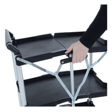 Load image into Gallery viewer, Folding the Azuma wheeled service trolley cart.