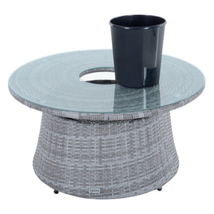 Azuma Monte Carlo rattan garden table and ice bucket.