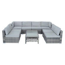 Load image into Gallery viewer, Azuma 8 seater Monaco grey rattan furniture set.
