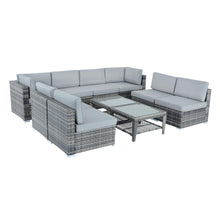 Load image into Gallery viewer, Azuma Monaco 8 seater grey rattan set.