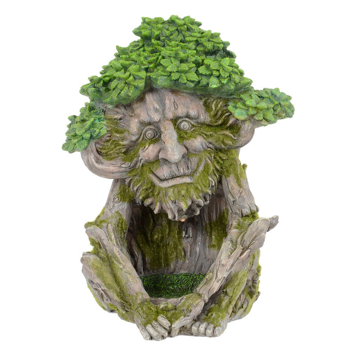 Tree creature novelty garden solar ornament.