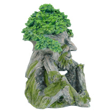 Load image into Gallery viewer, Side of the tree creature novelty garden solar ornament.