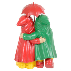 Back of the standing gnome couple ornament.