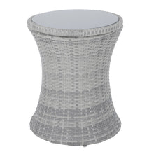 Load image into Gallery viewer, Azuma Ibiza Rattan Effect Drinks Cooler Table With Glass Top