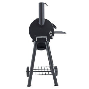 Azuma Bandit Barrel BBQ Black Steel Smoker Offset Firebox