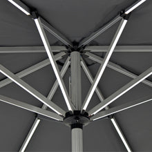 Load image into Gallery viewer, Azuma LED Garden Parasol 3m Light Up Grey Patio Umbrella