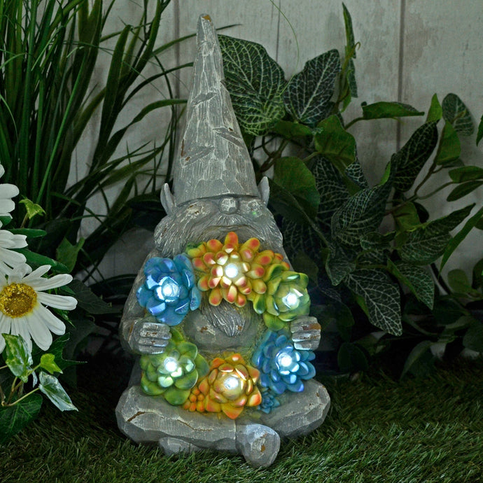 Azuma Solar Garden Ornament 6 White LED Lights Frog Gnome