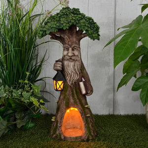 Azuma Tree Man Ent Solar Garden Ornament Yellow LED Lights