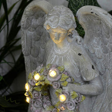 Load image into Gallery viewer, Azuma Angel With Garland Solar Garden Ornament White LEDs