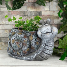 Load image into Gallery viewer, Azuma Garden Planter Animal Shape Slate Grey Mosaic 34cm