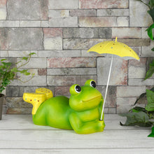 Load image into Gallery viewer, Azuma Garden Ornament Green Frog Wellies Umbrella 32cm