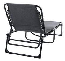 Load image into Gallery viewer, Azuma Grey Marl Padded Garden Sun Lounger Fold Away Seat