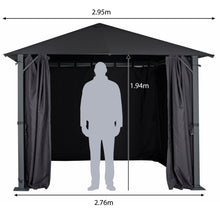 Load image into Gallery viewer, Azuma Pavillion Gazebo 3m x 3m Grey Waterproof Garden Marquee