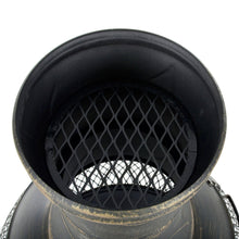 Load image into Gallery viewer, Azuma Eldur Chiminea Black Steel Charcoal Wood Burner Fire