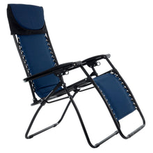 Load image into Gallery viewer, Azuma Padded Zero Gravity Garden Relaxer Chair - 2 Tone Blue