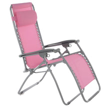 Load image into Gallery viewer, Azuma Textilene Zero Gravity Relaxer Chair - Wild Rose Pink