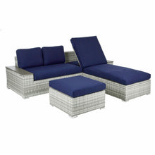 Load image into Gallery viewer, Azuma Tivoli Garden Sofa Set Recliner Lounger Grey Rattan