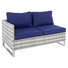 Load image into Gallery viewer, Azuma Treviso Garden Sofa Set Grey Rattan Coffee Table Ottoman