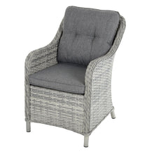 Load image into Gallery viewer, single rattan chair with grey cushions