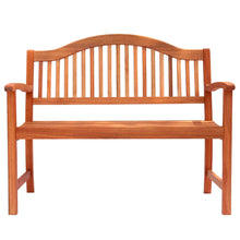 Load image into Gallery viewer, Azuma 2 Seat Wooden Bench Garden Hardwood Furniture