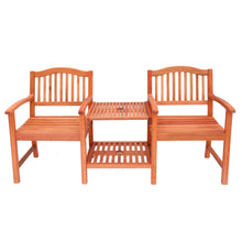 Load image into Gallery viewer, Front view of traditional wooden companion seat for your garden