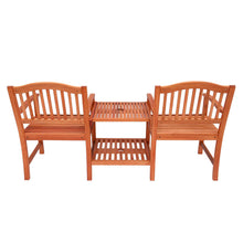 Load image into Gallery viewer, Azuma Solid Wood Love Seat Garden Companion Set Table