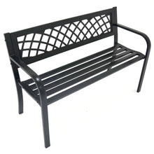 Load image into Gallery viewer, Azuma Central Park metal garden bench.