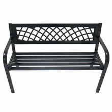 Load image into Gallery viewer, Front view of the Azuma Central Park metal garden bench.