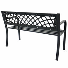 Load image into Gallery viewer, Back view of the Azuma Central Park metal garden bench.