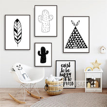 Load image into Gallery viewer, Black + White Southwest Wall Art