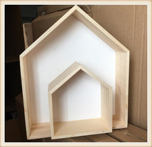Load image into Gallery viewer, Wooden House Shaped Shelf Decor