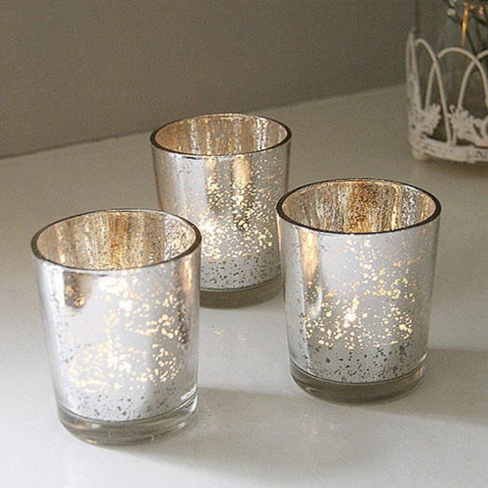 Mercury Glass Tealight Holders