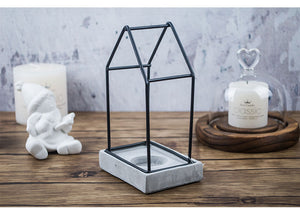 Industrial Concrete + Iron Candle Holder