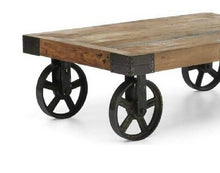 Load image into Gallery viewer, Wood + Iron Railroad Coffee Table