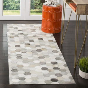 Grey Natural Handmade Cowhide Rug