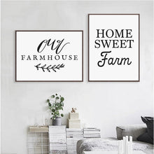 Load image into Gallery viewer, Farmhouse Calligraphy Art Print