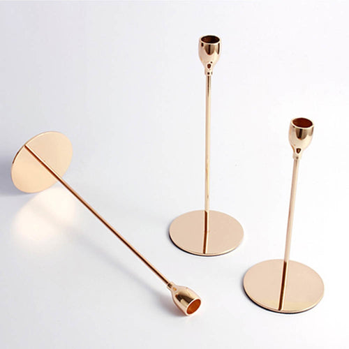Long Minimalist Candlesticks - Gold