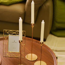 Load image into Gallery viewer, Long Minimalist Candlesticks - Gold