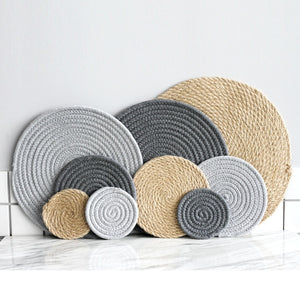 Round Cotton Placemats + Coasters