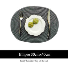 Load image into Gallery viewer, Round Cotton Placemats + Coasters