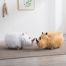 Load image into Gallery viewer, Hairy Rhino Ottoman